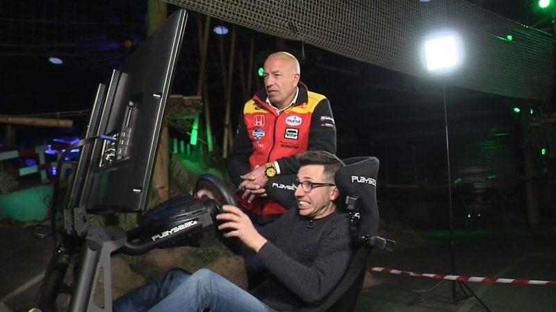 Kan een gamer een coureur verslaan op de simulator?