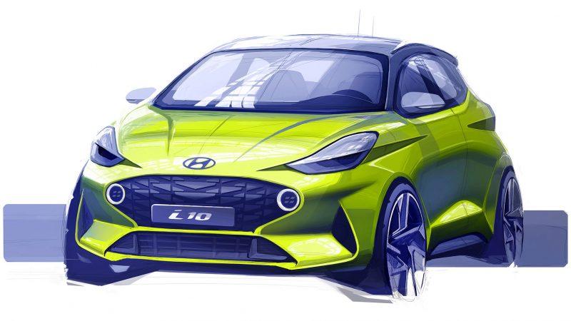 Hyundai toont eerste schets van geheel nieuwe i10