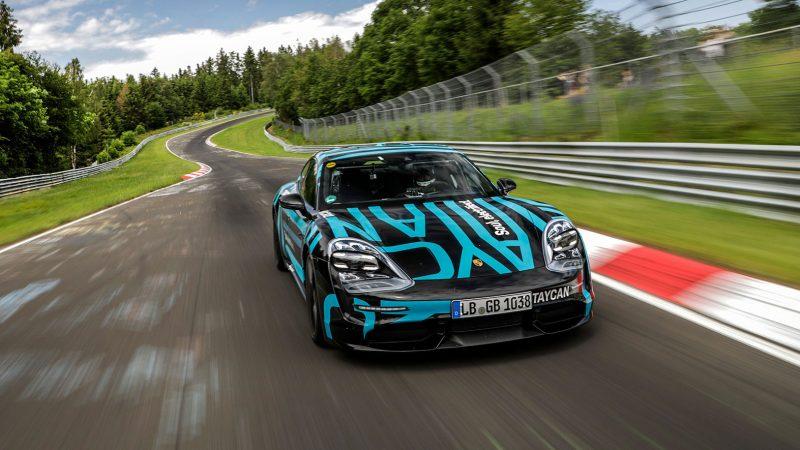 Porsche Taycan snelste in zijn klasse op Nürburgring-Nordschleife
