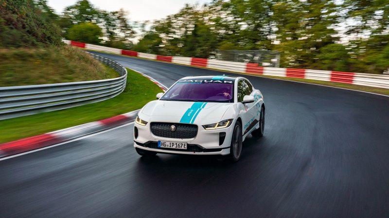 Jaguar I-PACE is de eerste volledig elektrische Nürburgring RACE eTAXI